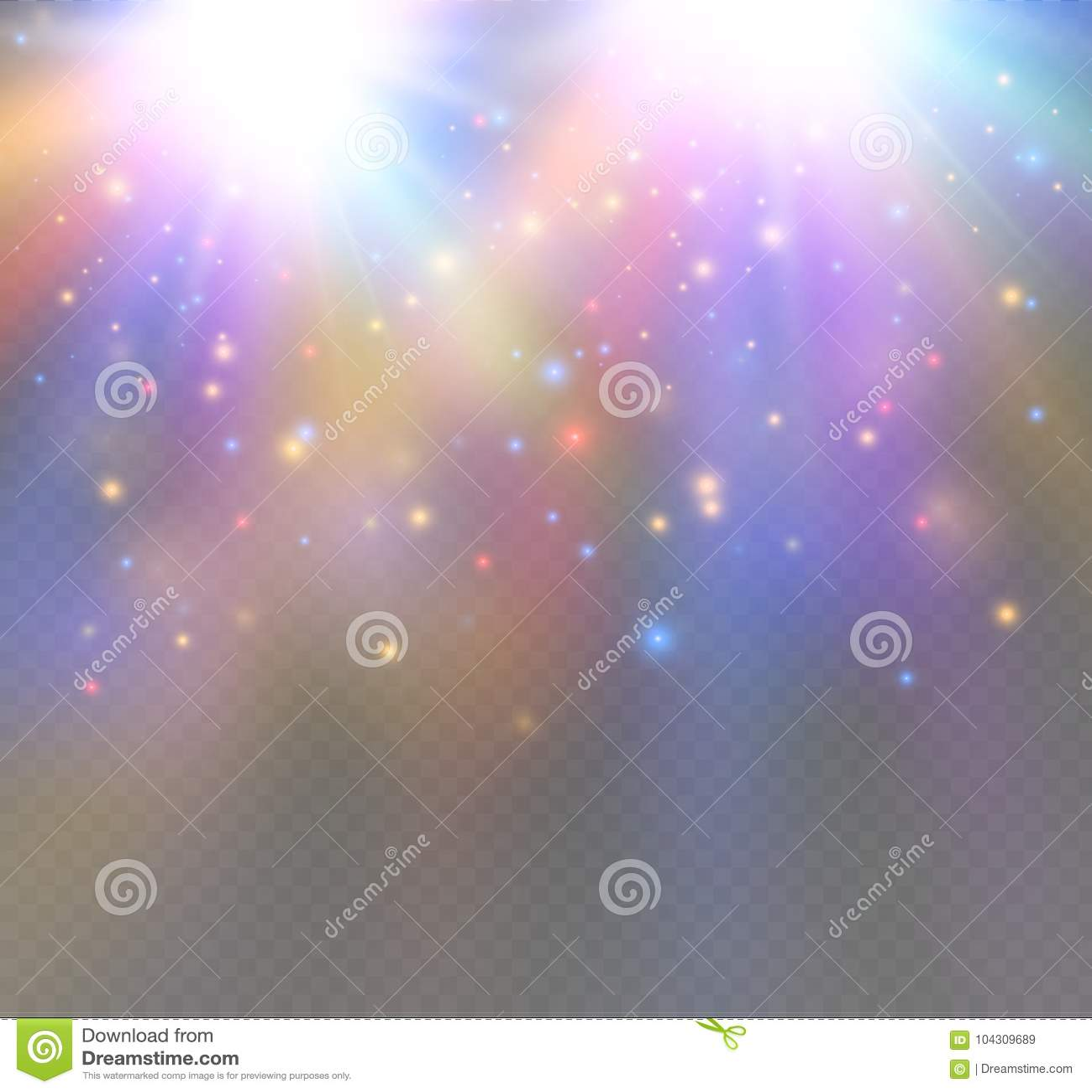 El blanco chispea y el efecto luminoso especial del brillo de las estrellas nieve