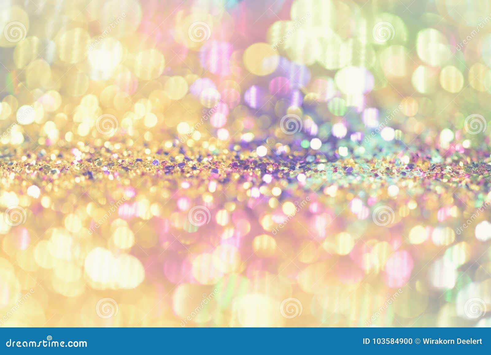 El bokeh Colorfull empañó el fondo abstracto para el cumpleaños, el aniversario, la boda, la Noche Vieja o la Navidad