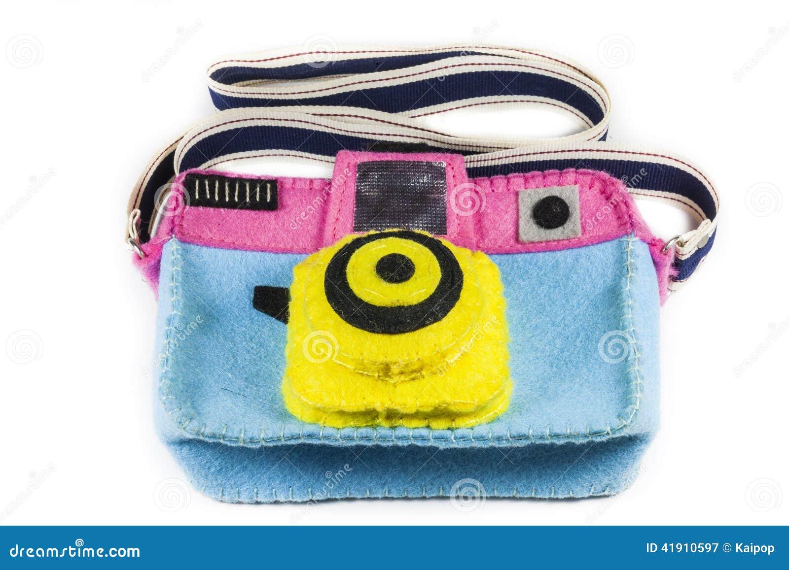 El bolso de la cámara es colorido