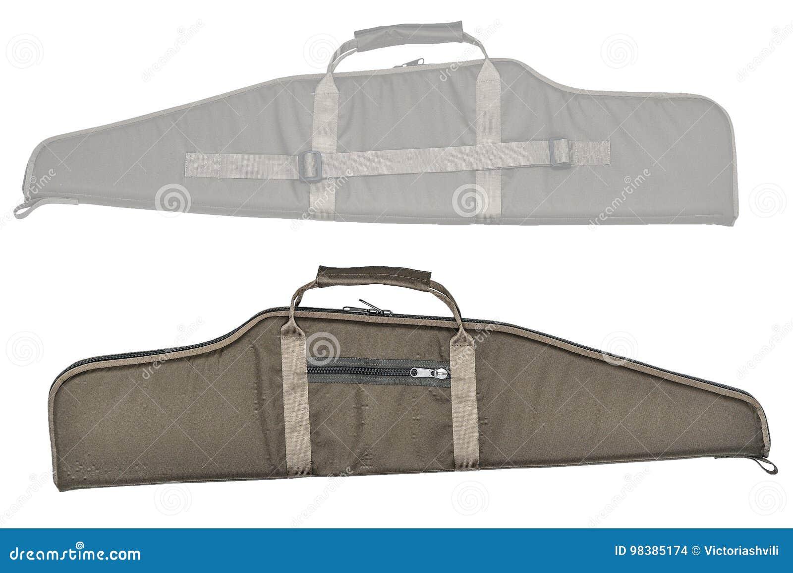 El bolso para encubierto lleva del subfusil ametrallador Aislado