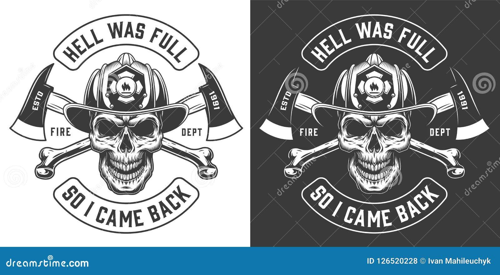 El bombero del vintage etiqueta concepto