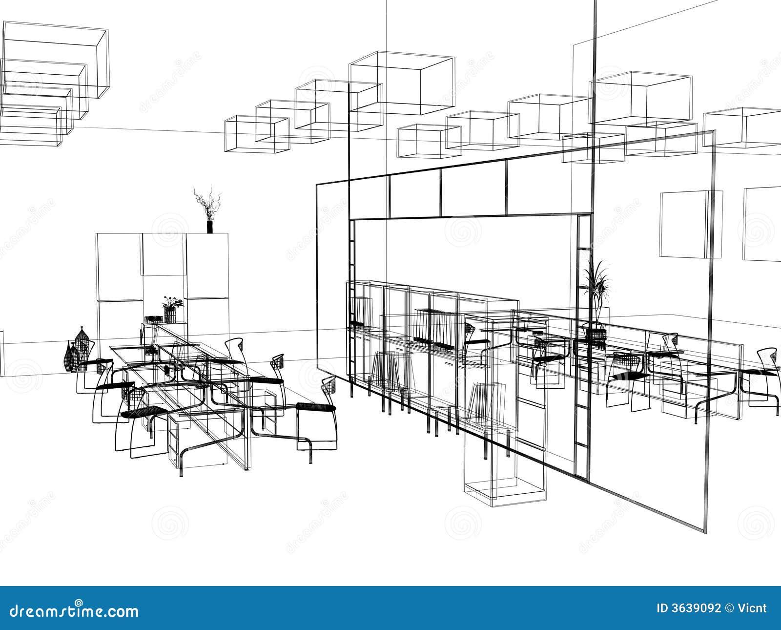 El bosquejo moderno de la oficina