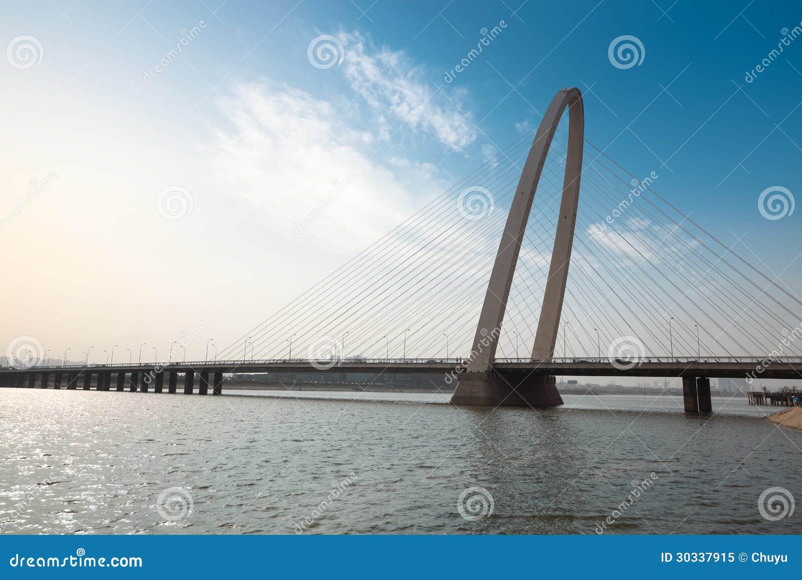 El cable permanecía el puente en xian