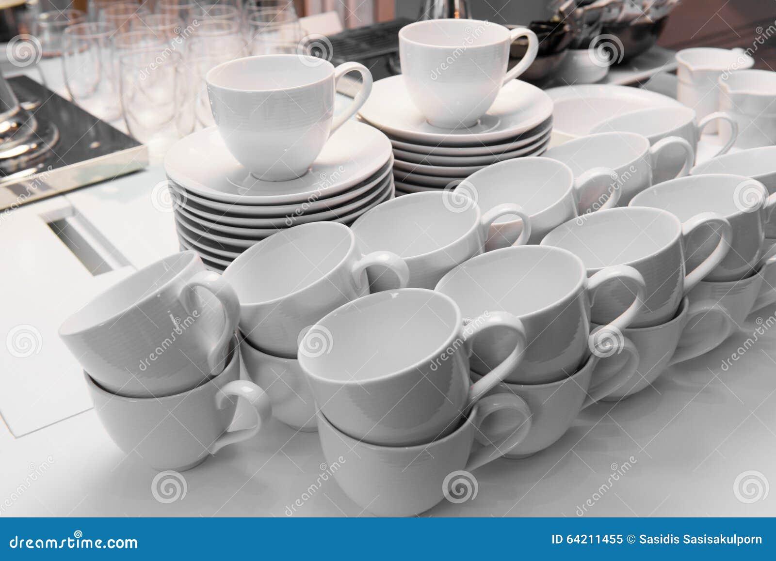 El café con leche ahueca listo para utilizar