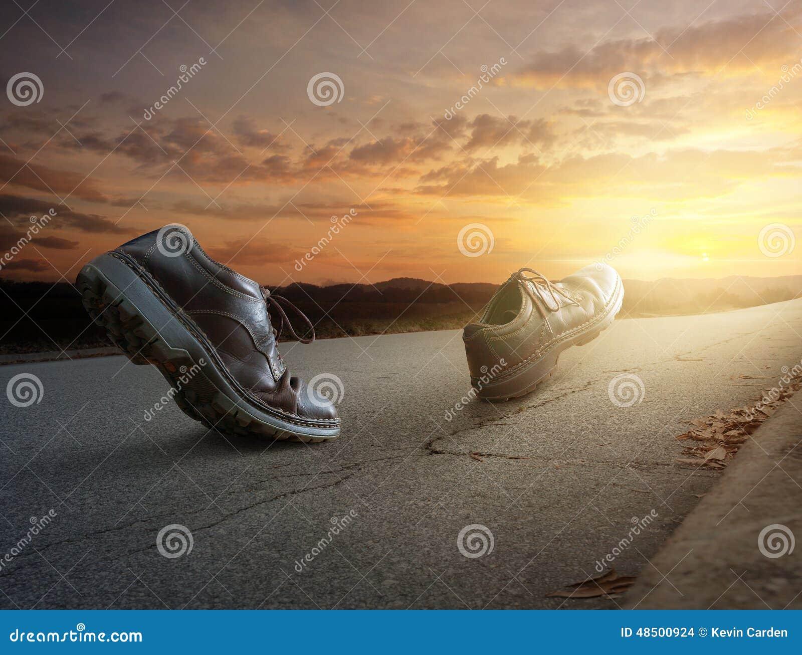 El caminar de las botas