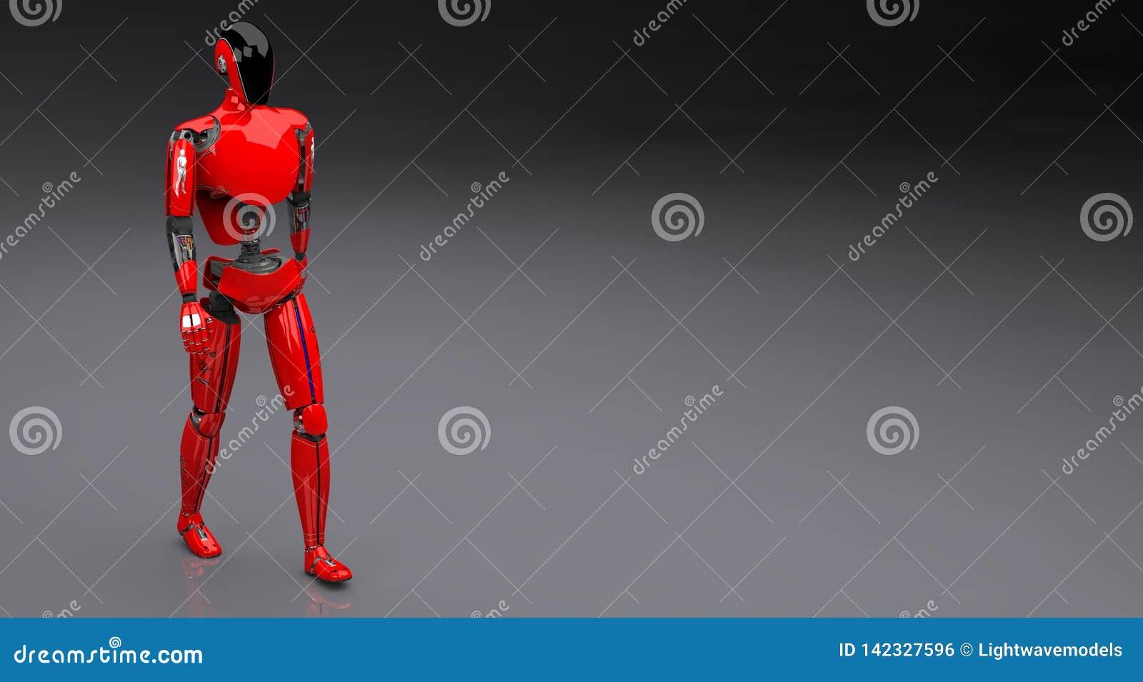 El caminar rojo del droid