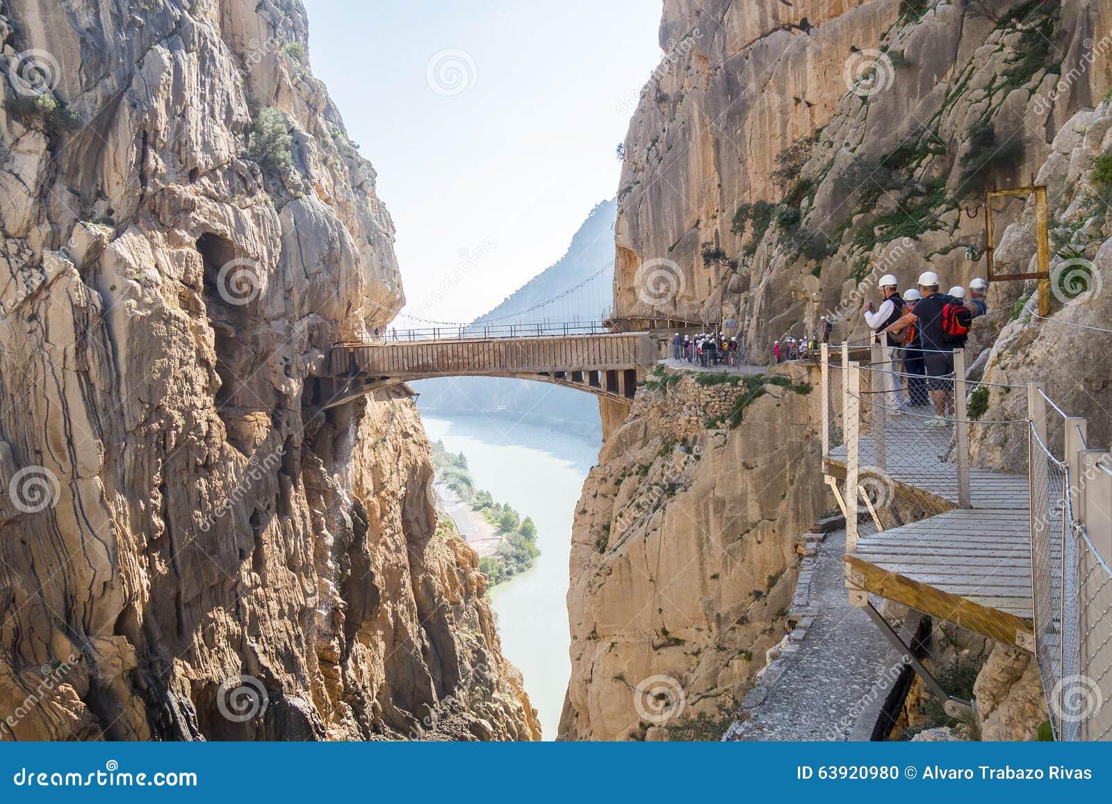 El Caminito del Rey  (il Little Path di re), la maggior parte del pericolo del mondo