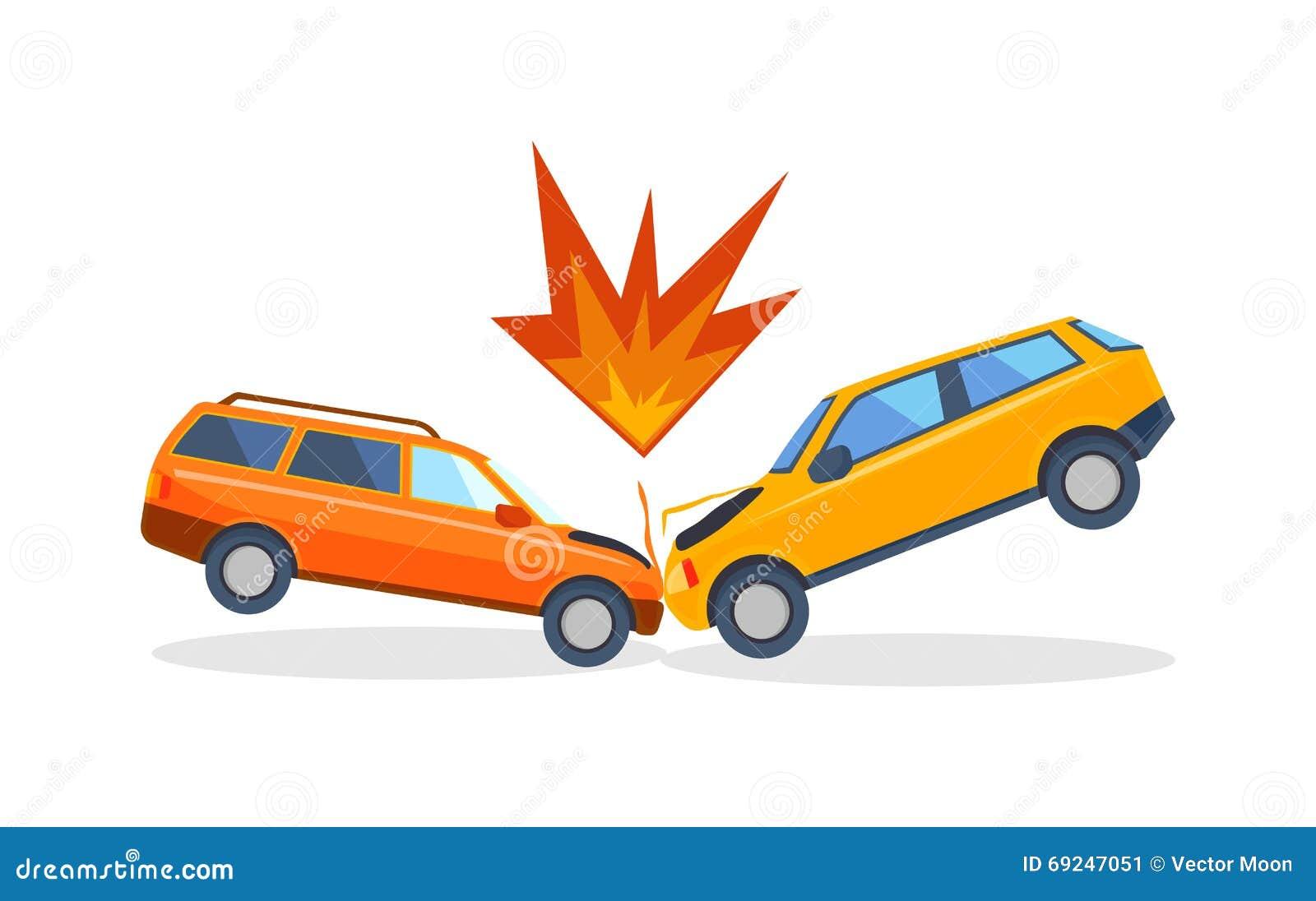 El camino del accidente en la calle da los autom viles despu s de vector del choque de coche - Coloriage cars accident ...