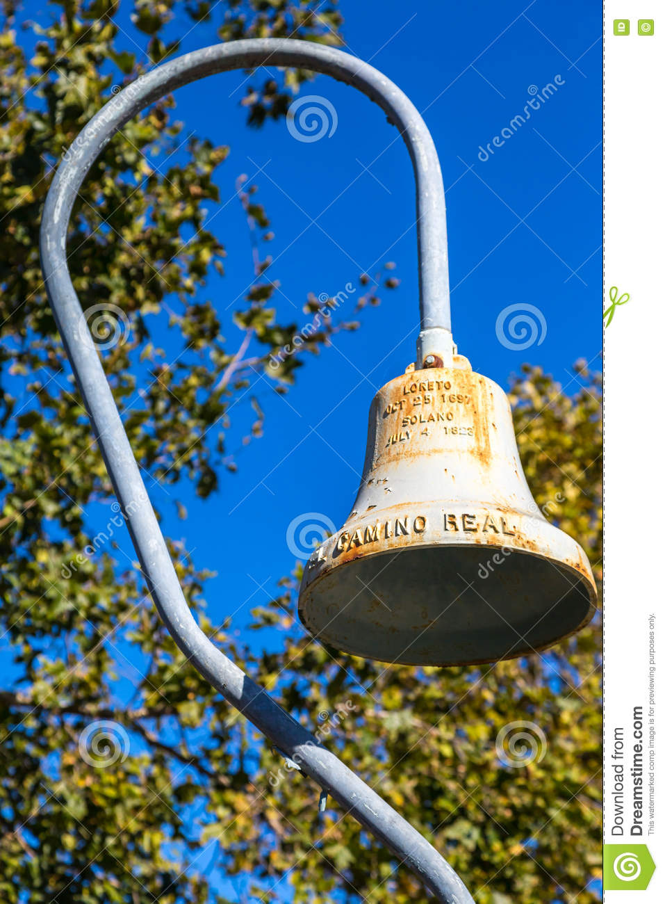 El Camino Real Bell editorial stock photo  Image of us101