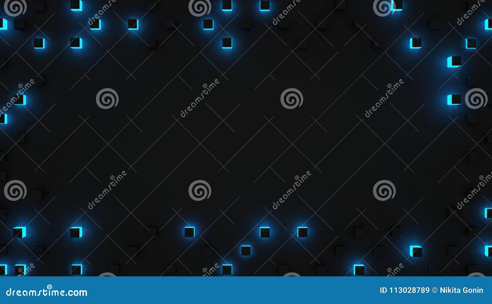 El capítulo del azul cubica la representación abstracta 3D