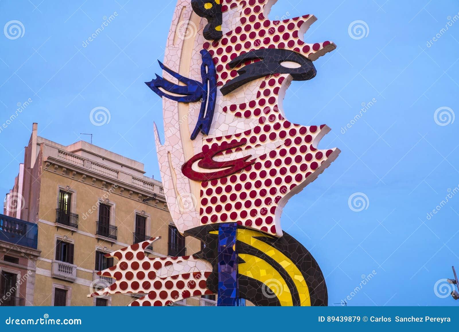 15bc19e4e1a El Cap De Barcelona Or La Cabeza De Barcelona Sculpture Of Roy L ...