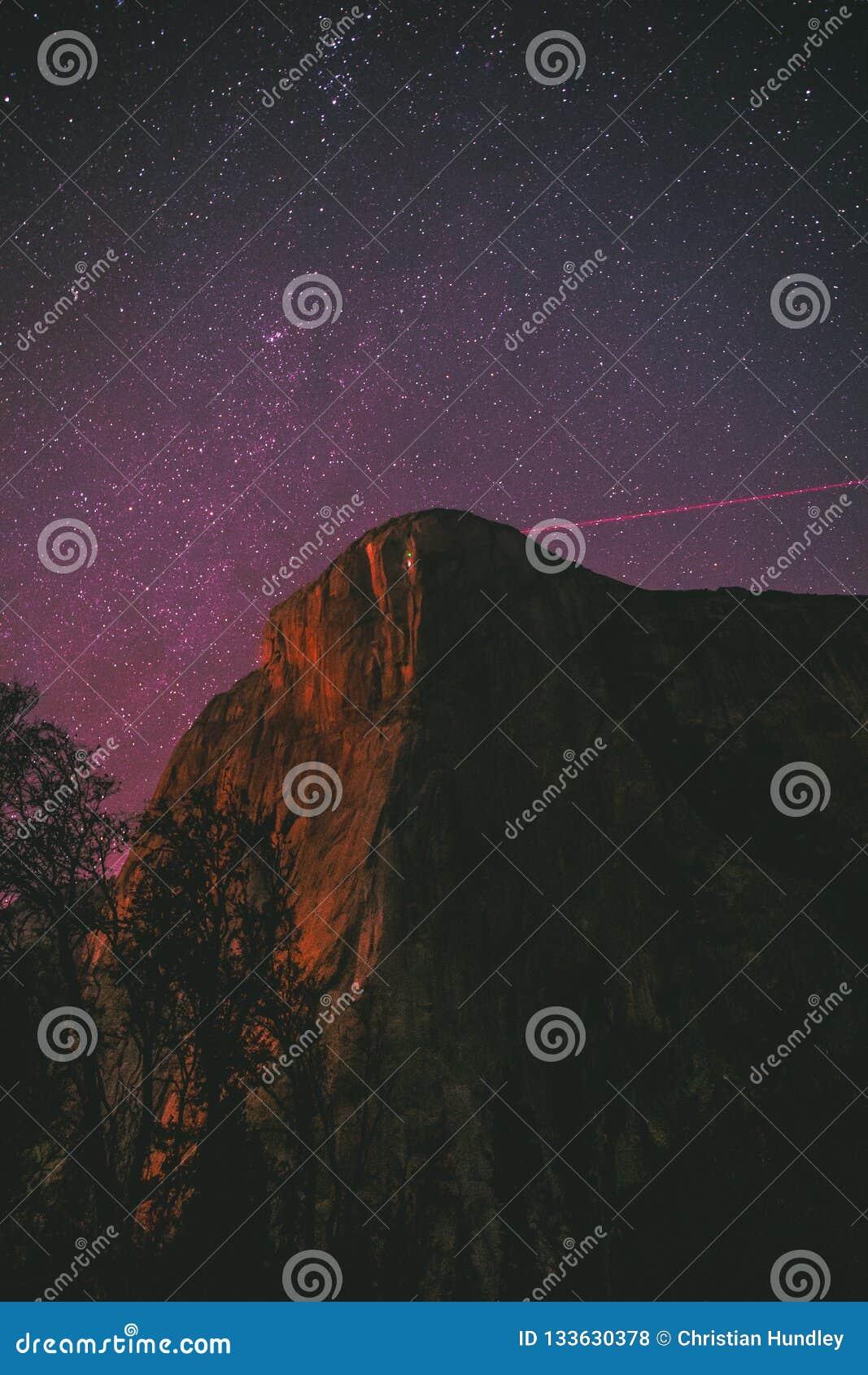 El Capitan在晚上