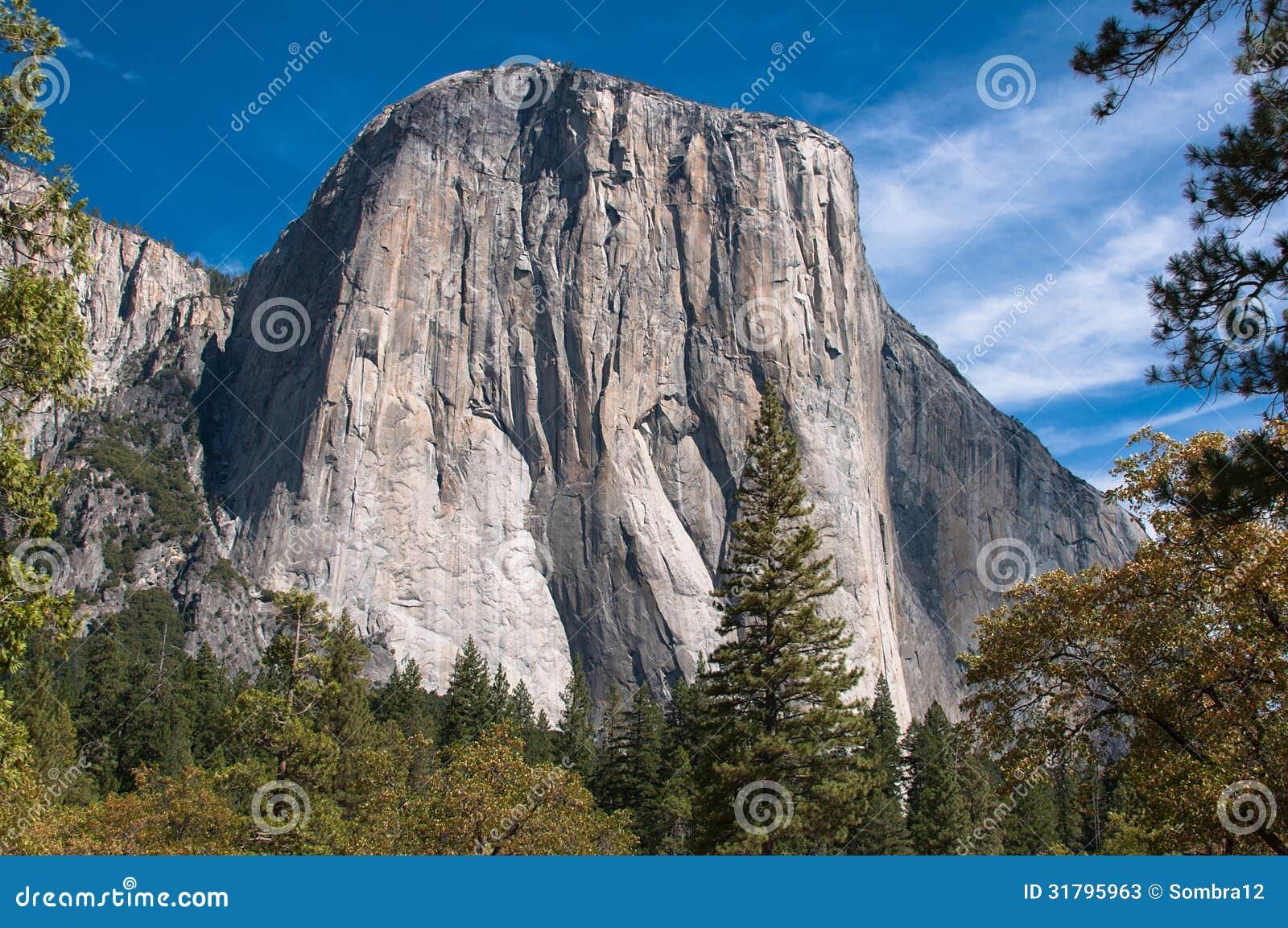 El Capitan A Rock In Yosemite National Park Stock Photos
