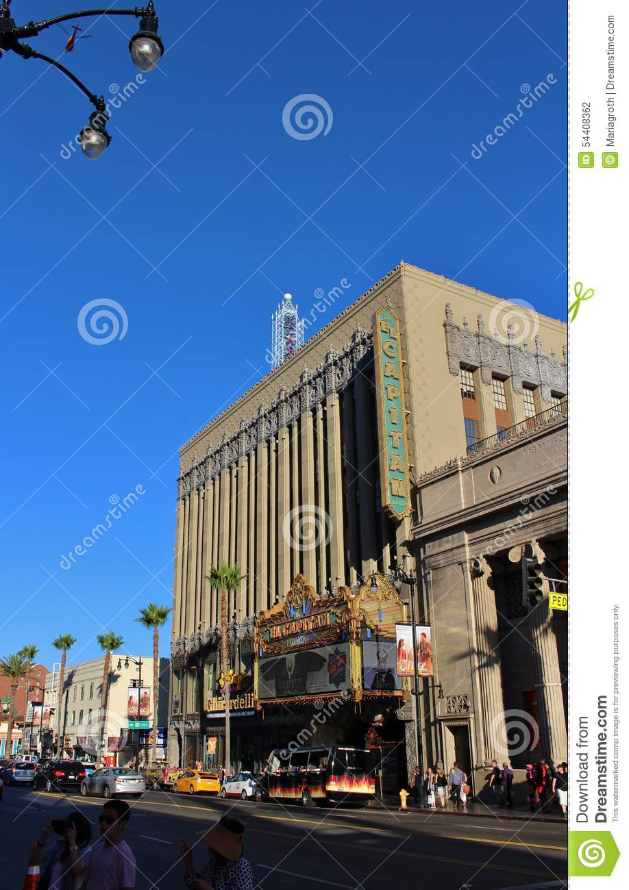 El Capitan Theatre, Hollywood Editorial Photography - Image of