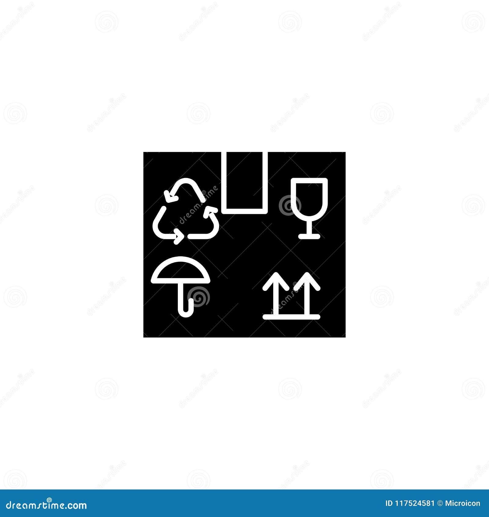 El cargo etiqueta concepto negro del icono El cargo etiqueta el símbolo plano del vector, muestra, ejemplo