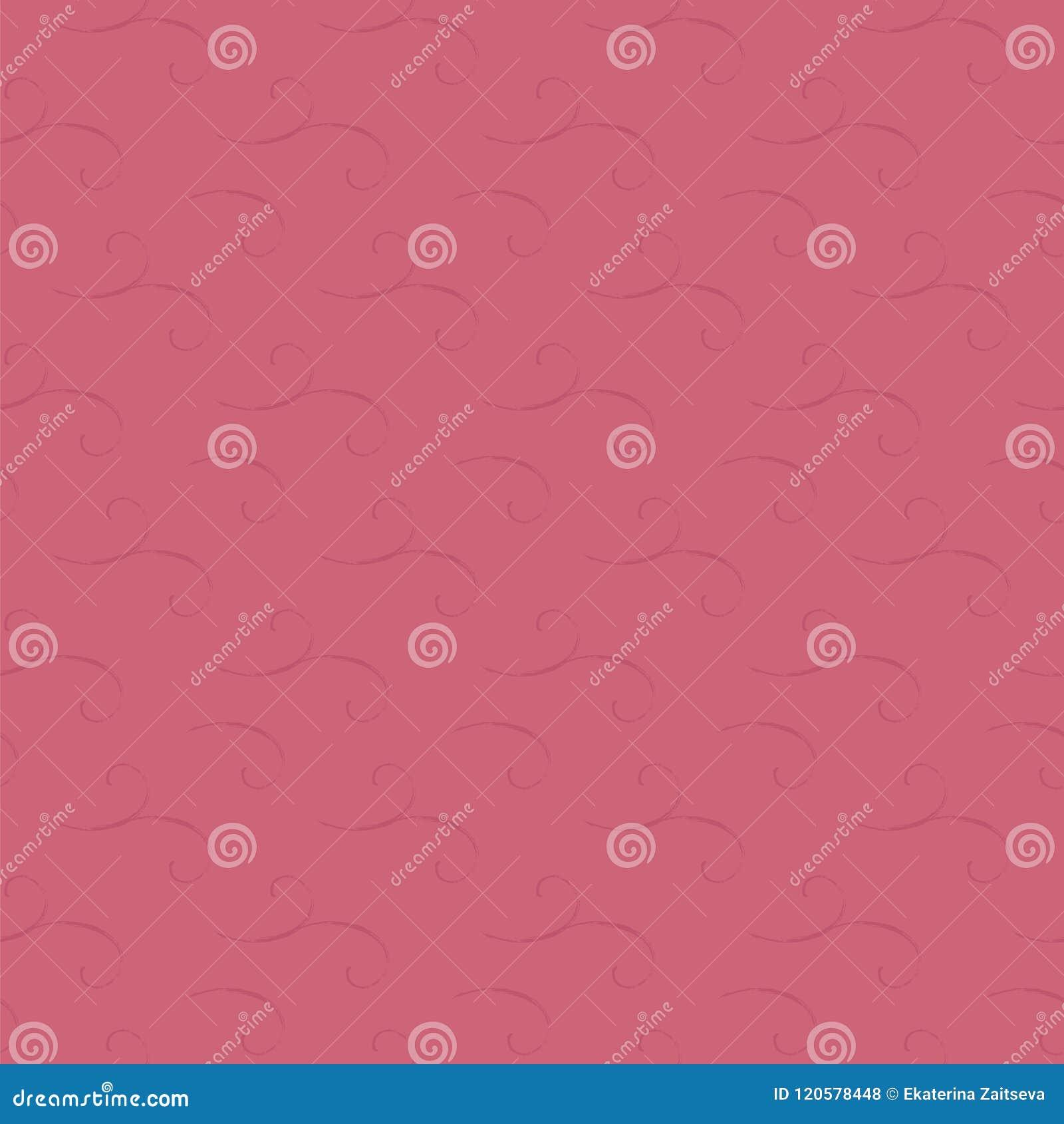 El carmesí rosado coloreó el modelo inconsútil de niña floral frío brillante de espirales lamentables del vector de los remolinos