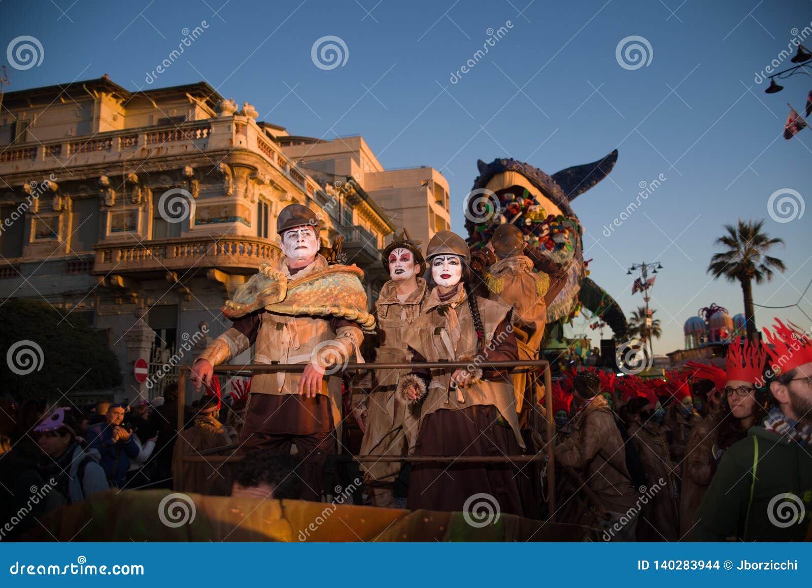 El carnaval de Viareggio, edición 2019