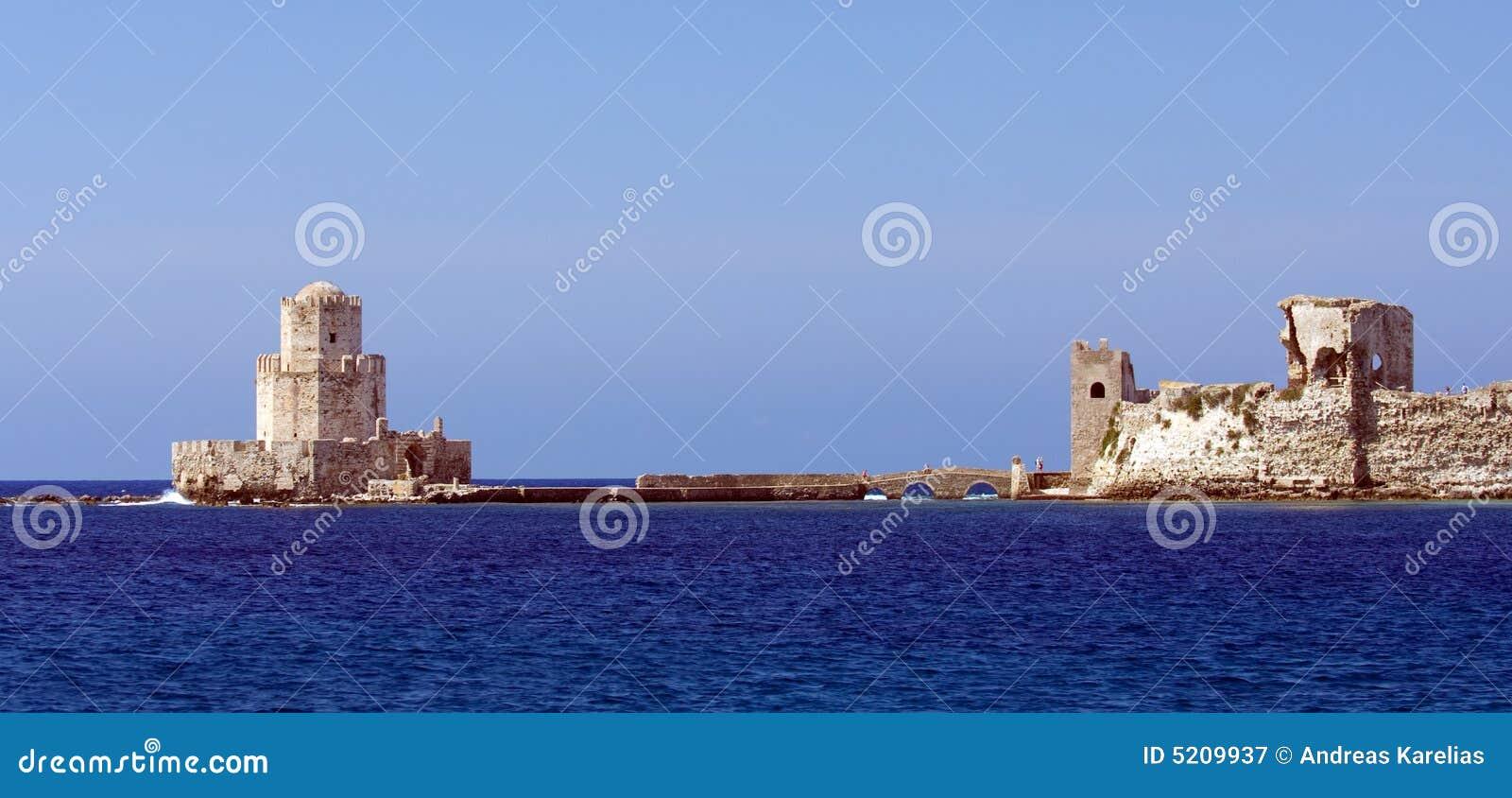 El castillo medieval en Methoni