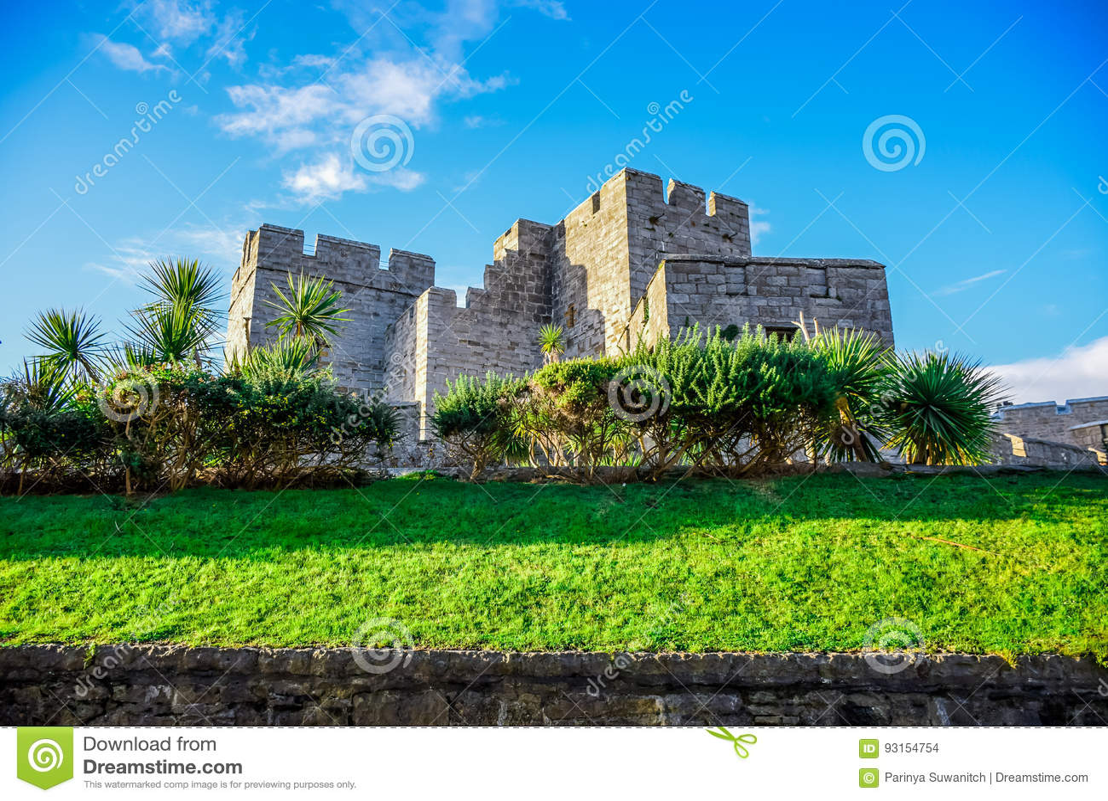El castillo Rushen en la isla del hombre