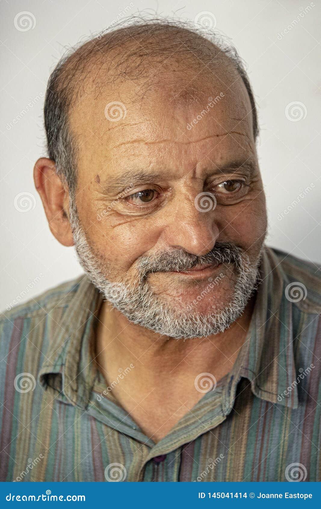 El centro envejeci? al hombre marroqu? - retrato