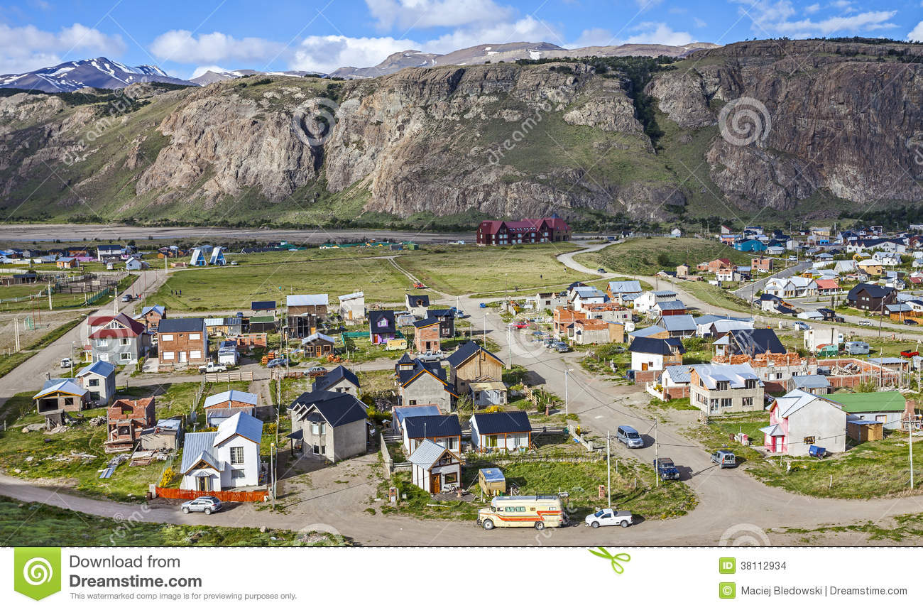 El Chalten Argentina  city pictures gallery : El Chalten Village In Argentina. Stock Images Image: 38112934