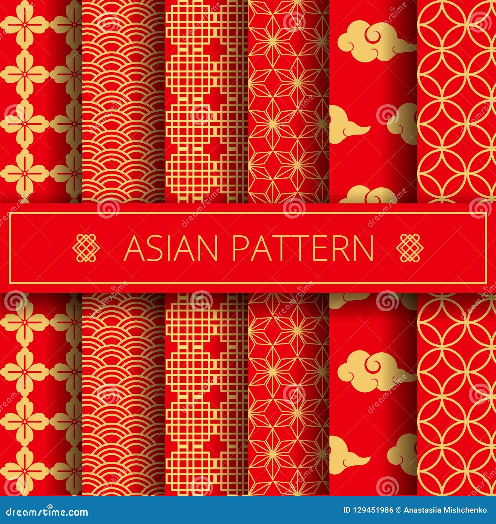 El chino japonés coreano tradicional asiático oriental modela el sistema de elementos de la decoración, fondo en línea de la pági