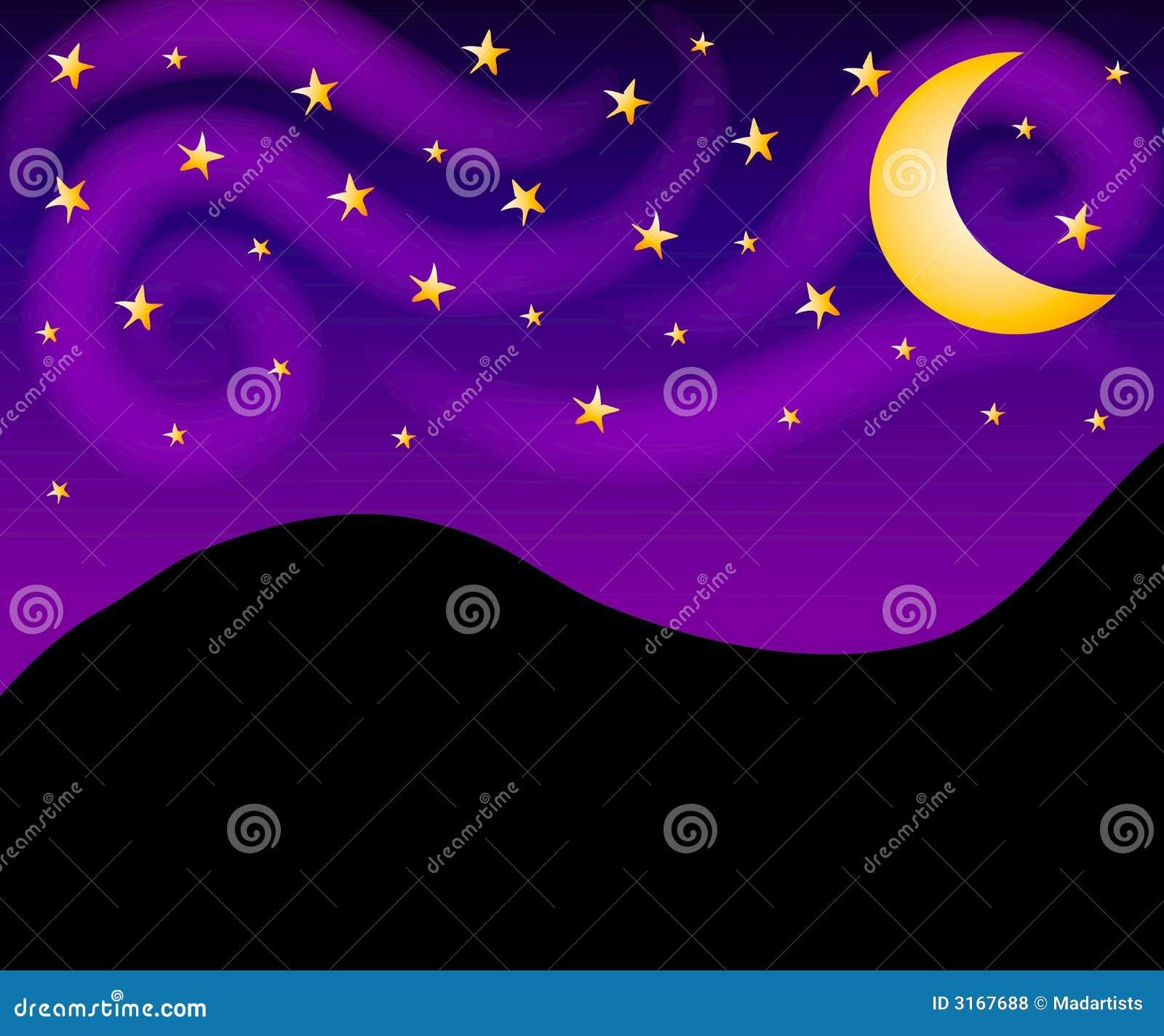 El cielo nocturno Stars el fondo