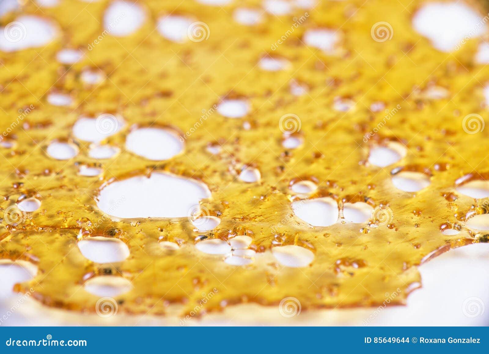 El cierre para arriba del fragmento del concentrado del aceite del cáñamo aka aisló agains