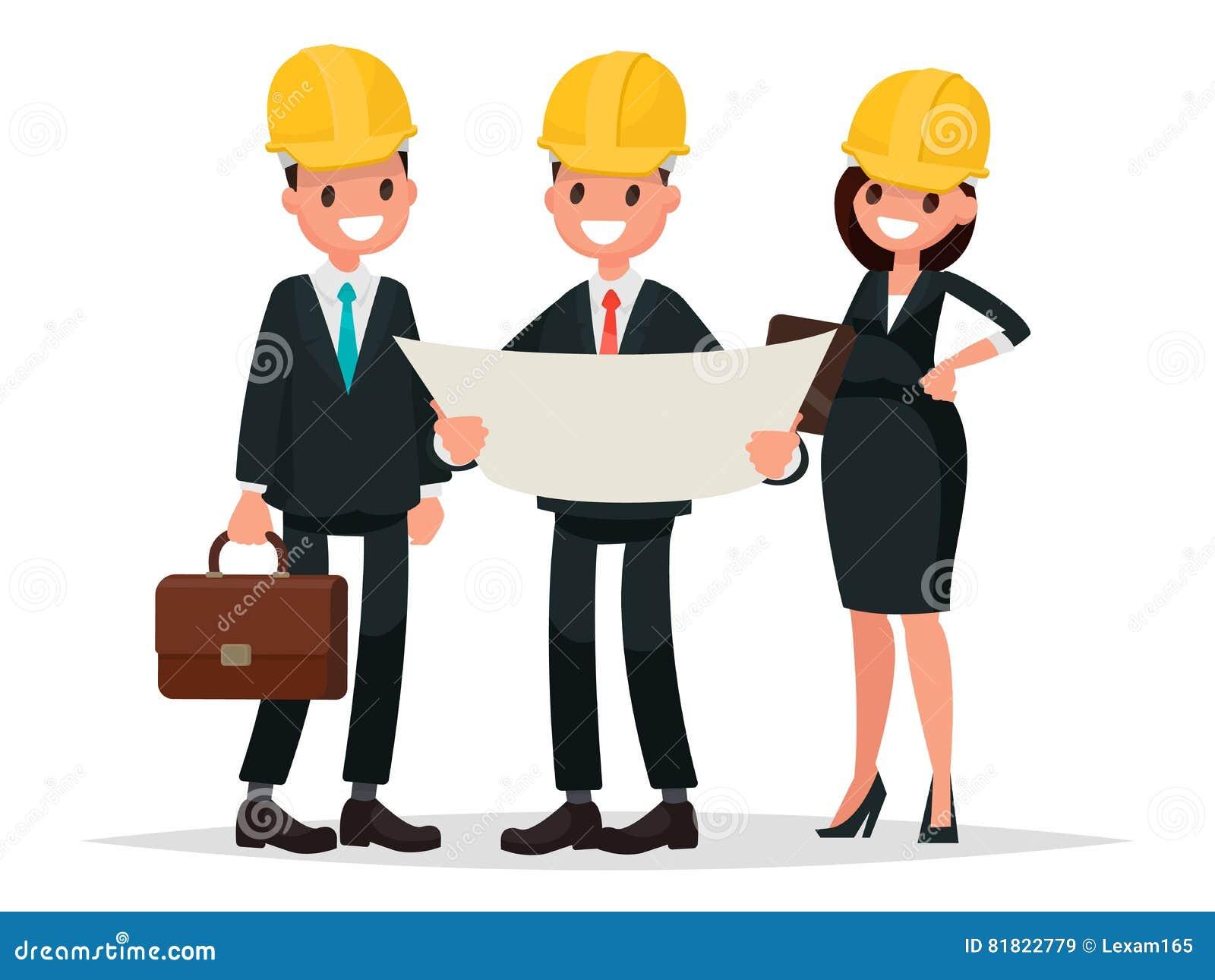 El Cliente Y El Contratista Del Ingeniero Están Discutiendo El ...