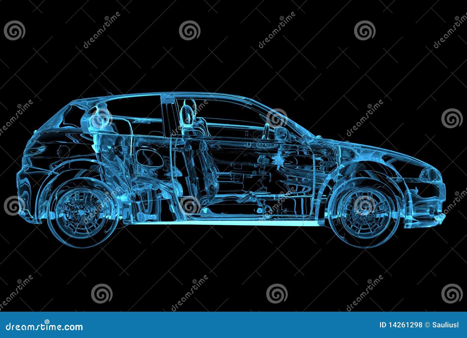 El coche 3D hizo la radiografía azul