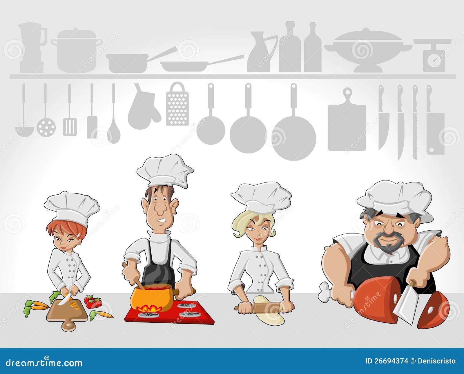 El cocinar de las personas del cocinero ilustraci n del for Cocinar para 40 personas