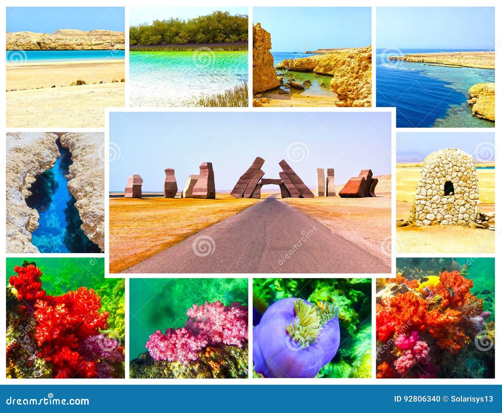 El collage de imágenes de Ras Muhammad National Park, Egipto