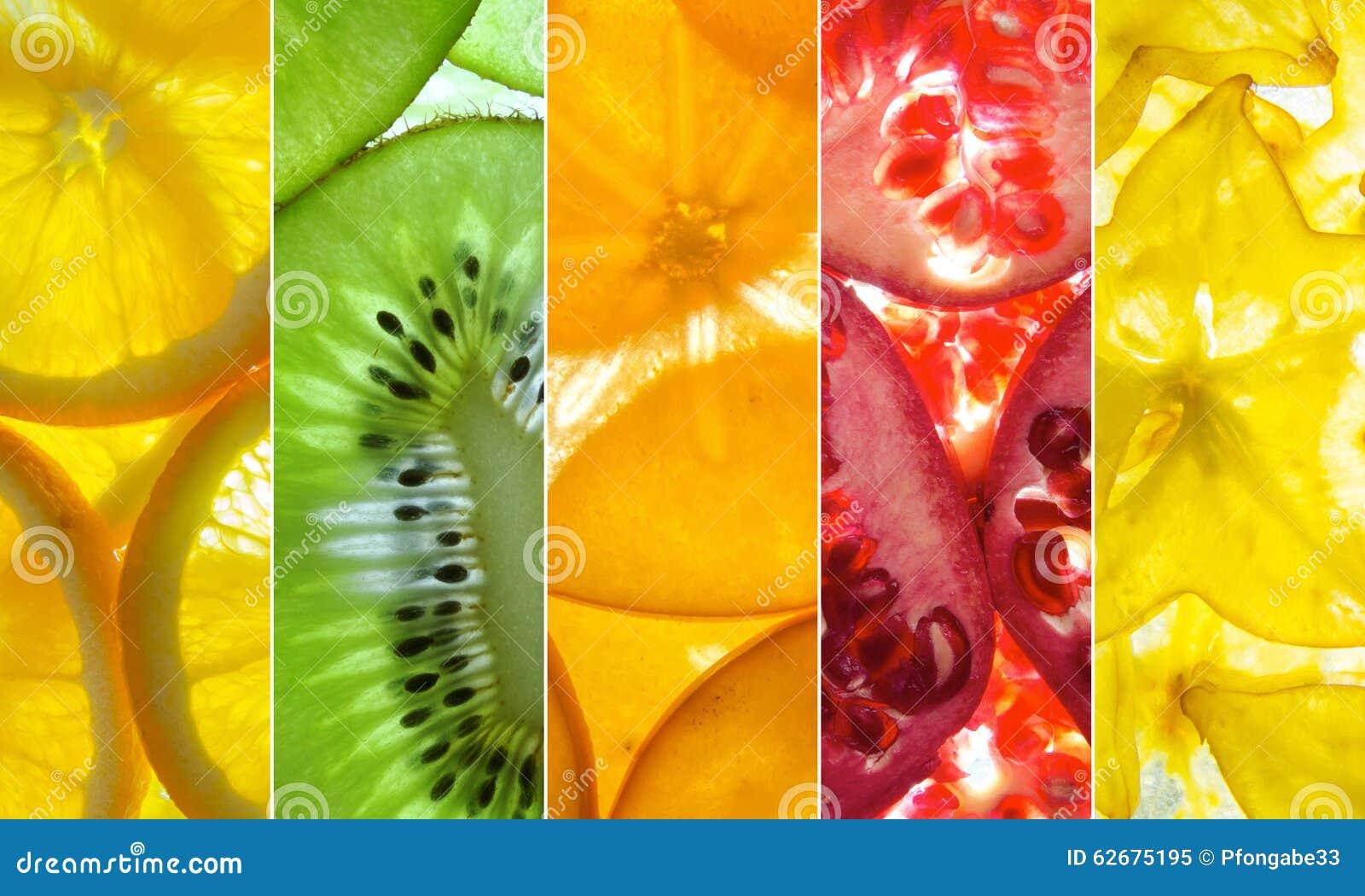 Collage Clasificado Colorido De La Fruta Stock Images - 132 Photos