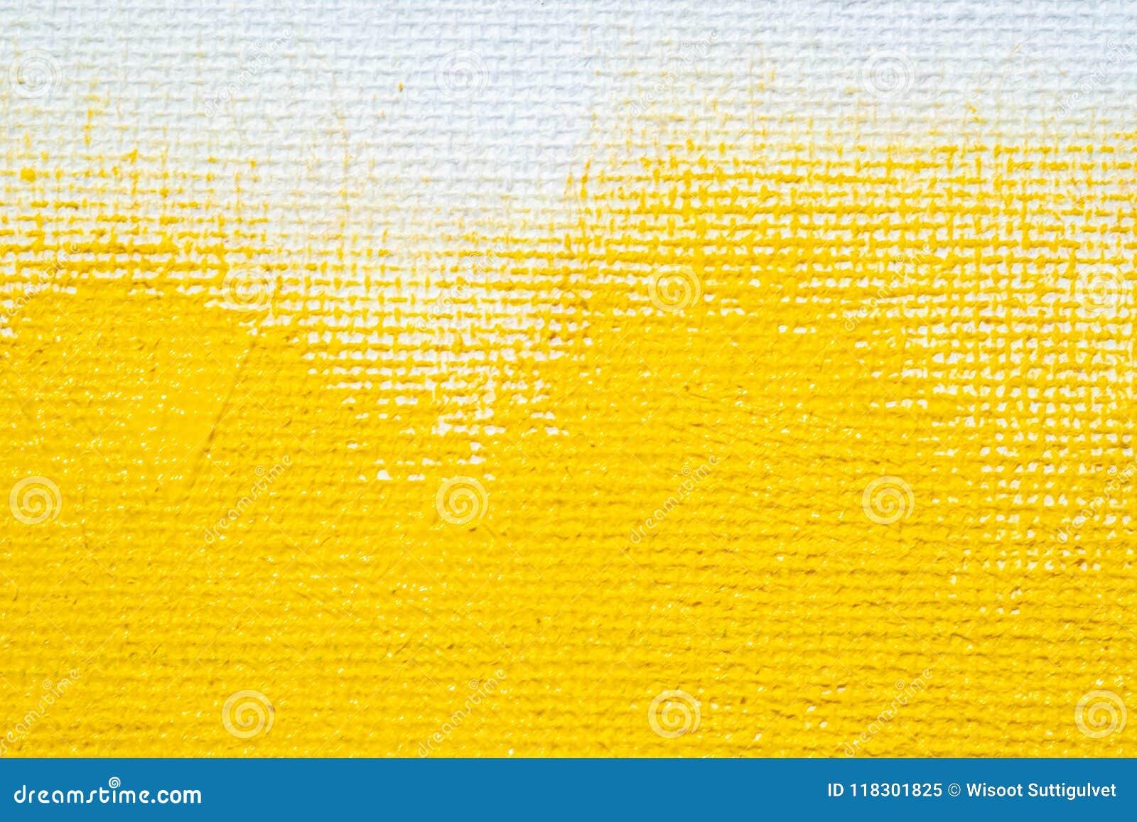 El color blanco del amarillo de la frontera del grunge del fondo amarillo abstracto con la lona blanca afila, textura del fondo d