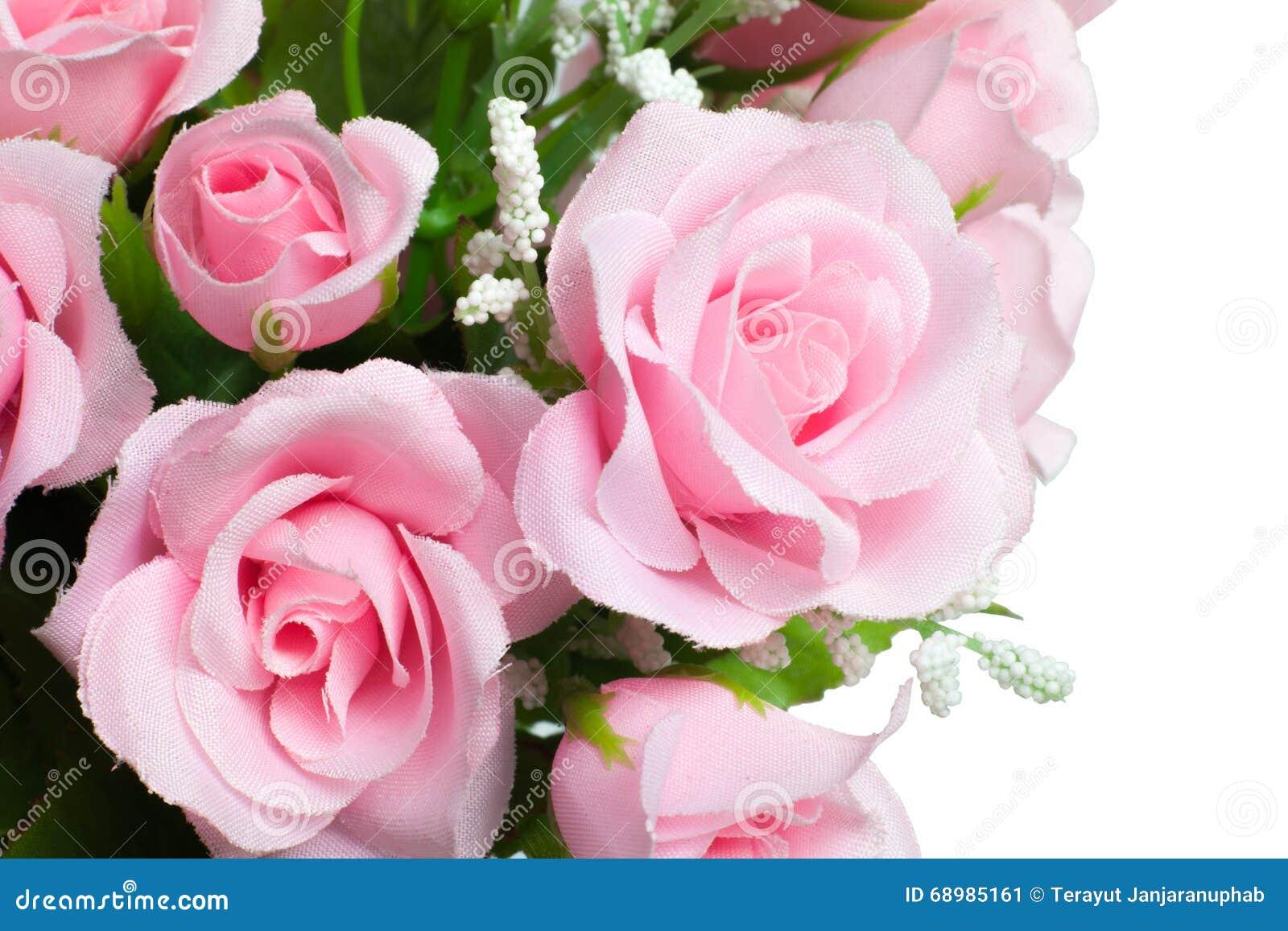 El color de rosa artificial se levantó