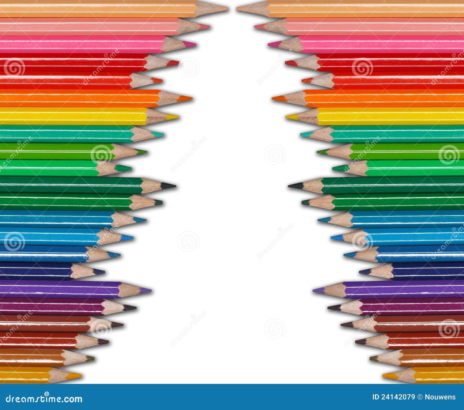 El Color Dibujo A Lapiz El Arbol De Navidad Imagen De Archivo