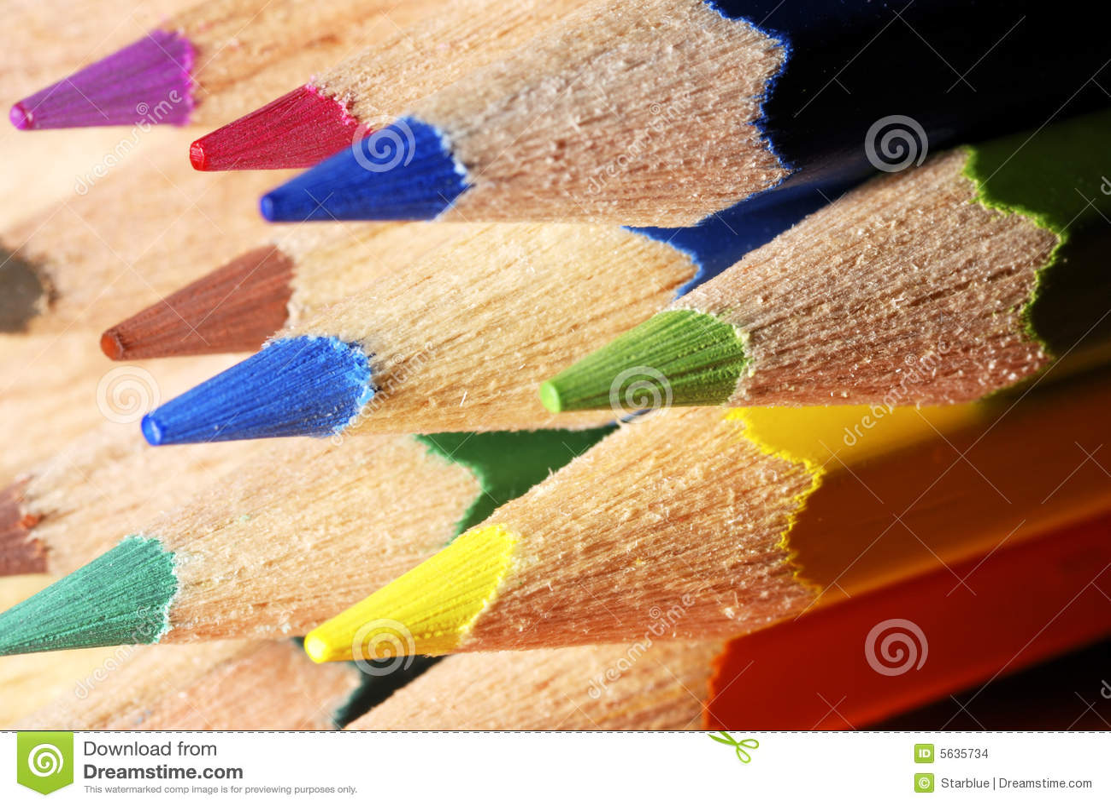 El color dibujó a lápiz macro