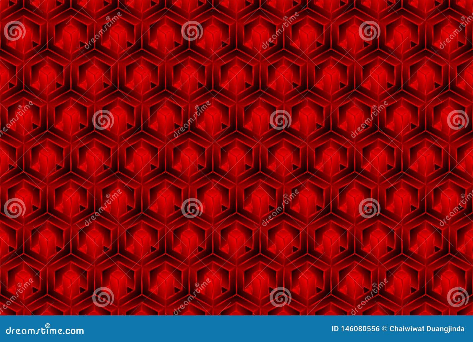 El color rojo de la caja 3d es un modelo como fondo abstracto