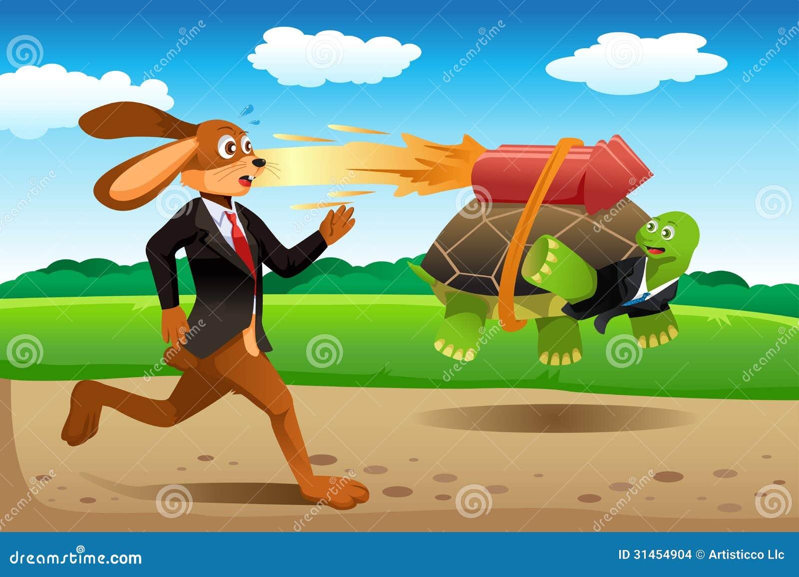 El competir con de la tortuga y de las liebres