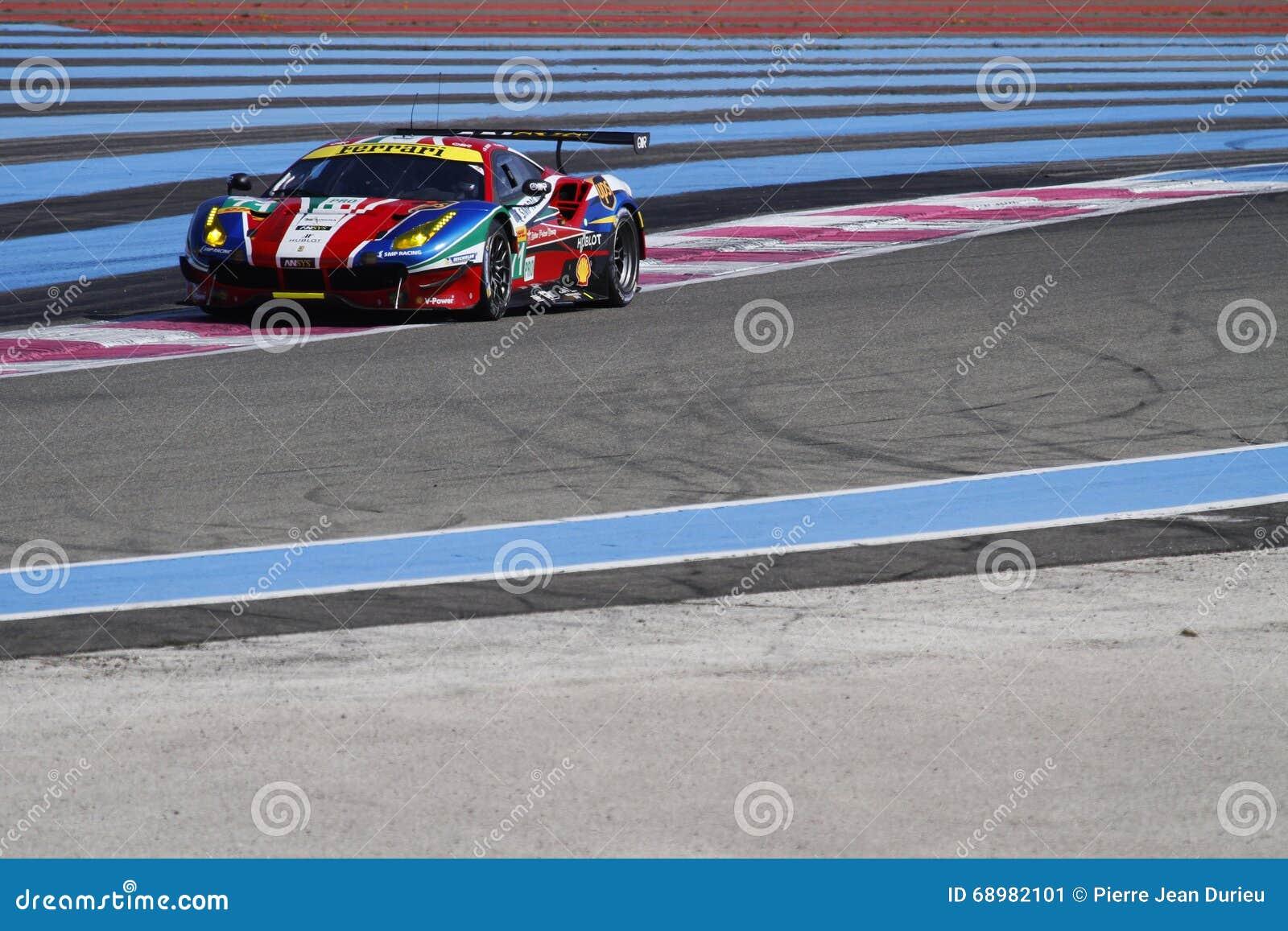 El competir con en Paul Ricard High Tech Test