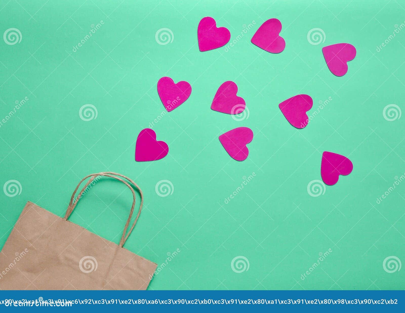 El Concepto De Amor De Las Compras Una Bolsa De Papel Para Hacer