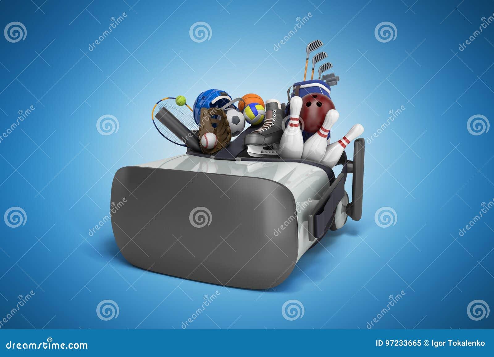 El Concepto De Juegos De Los Deportes En La Realidad Virtual 3d