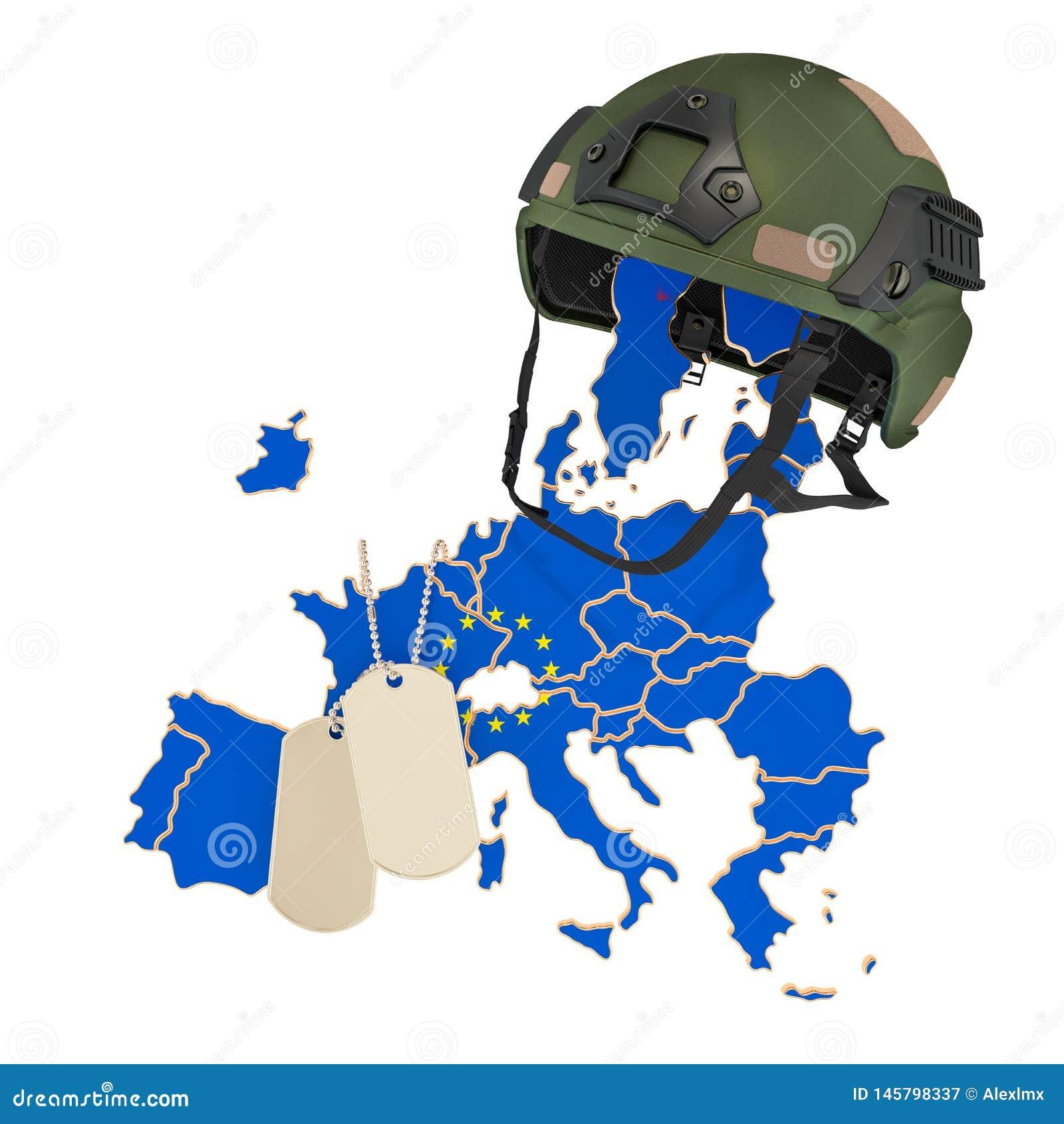 El concepto de la fuerza militar de la unión europea, del ejército o de la guerra representaci?n 3d