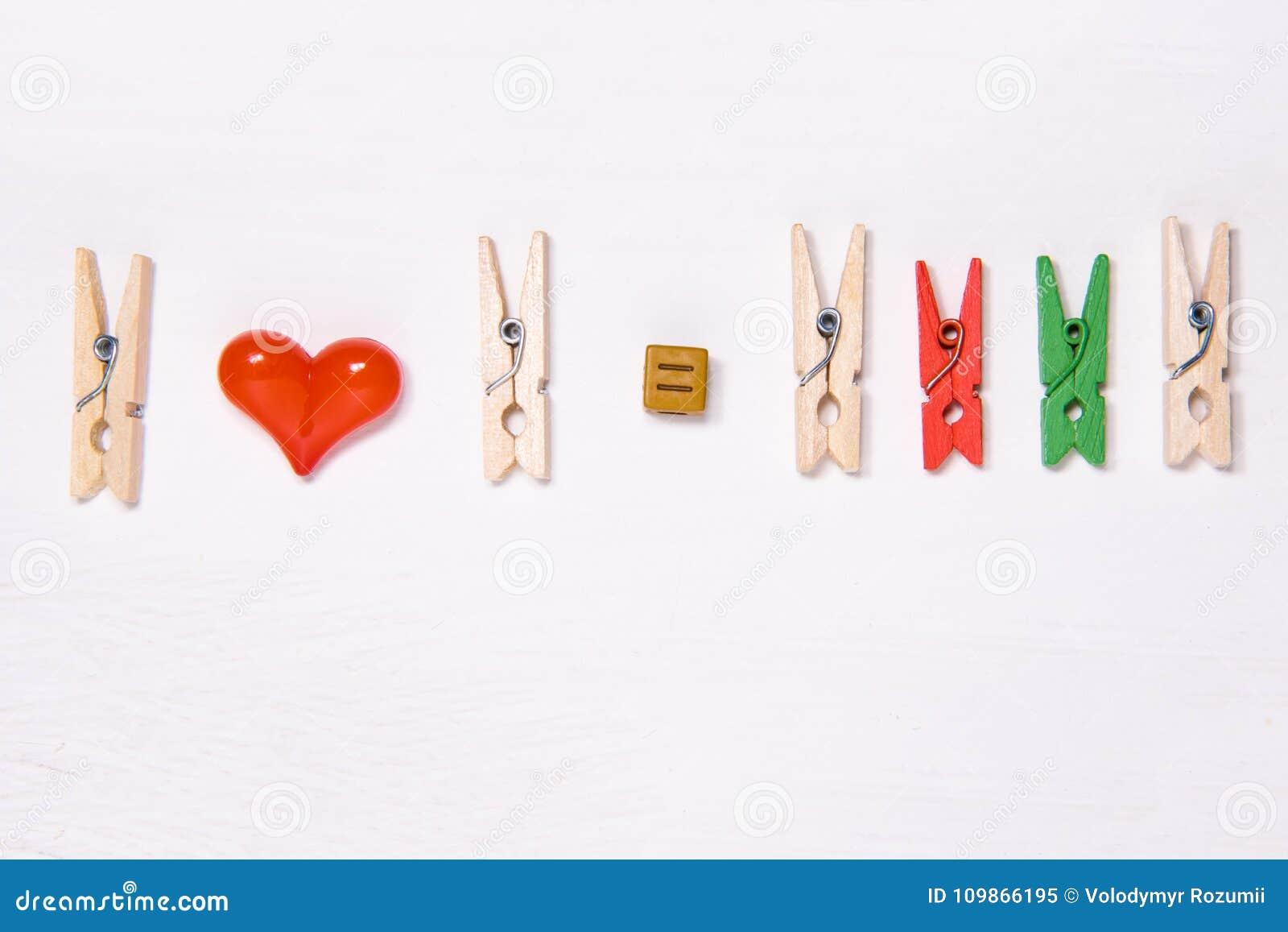 El concepto de una familia feliz de pinzas bajo la forma de amantes como resultado del amor aparece ser una familia con dos