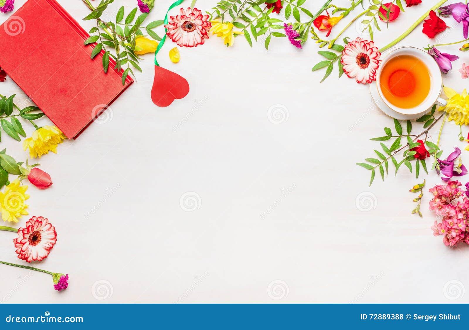 El Concepto Del Día De Madre, Una Variedad De Flores Multicoloras ...