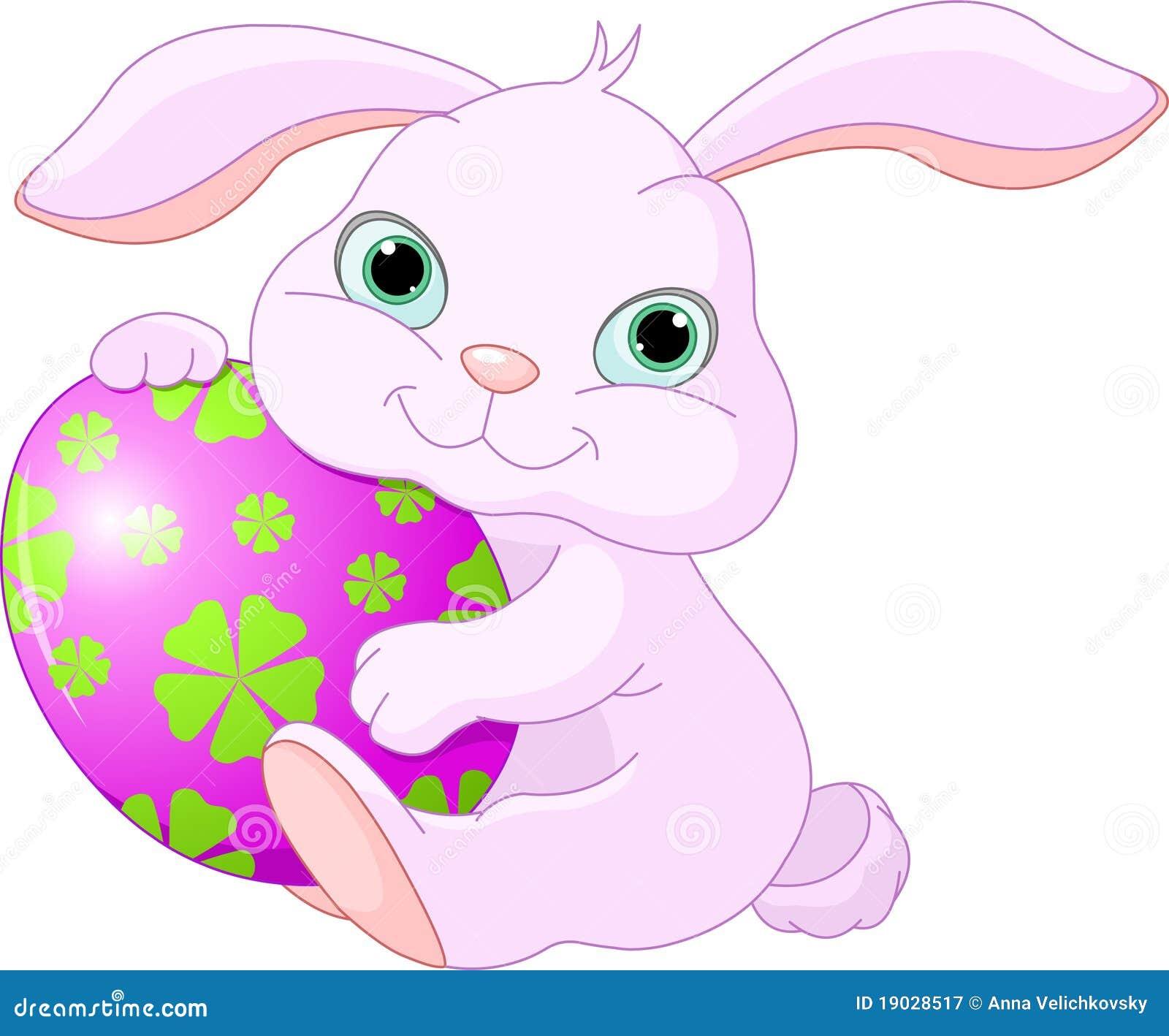 El conejo de pascua sostiene el huevo fotograf a de for El conejo de pascua