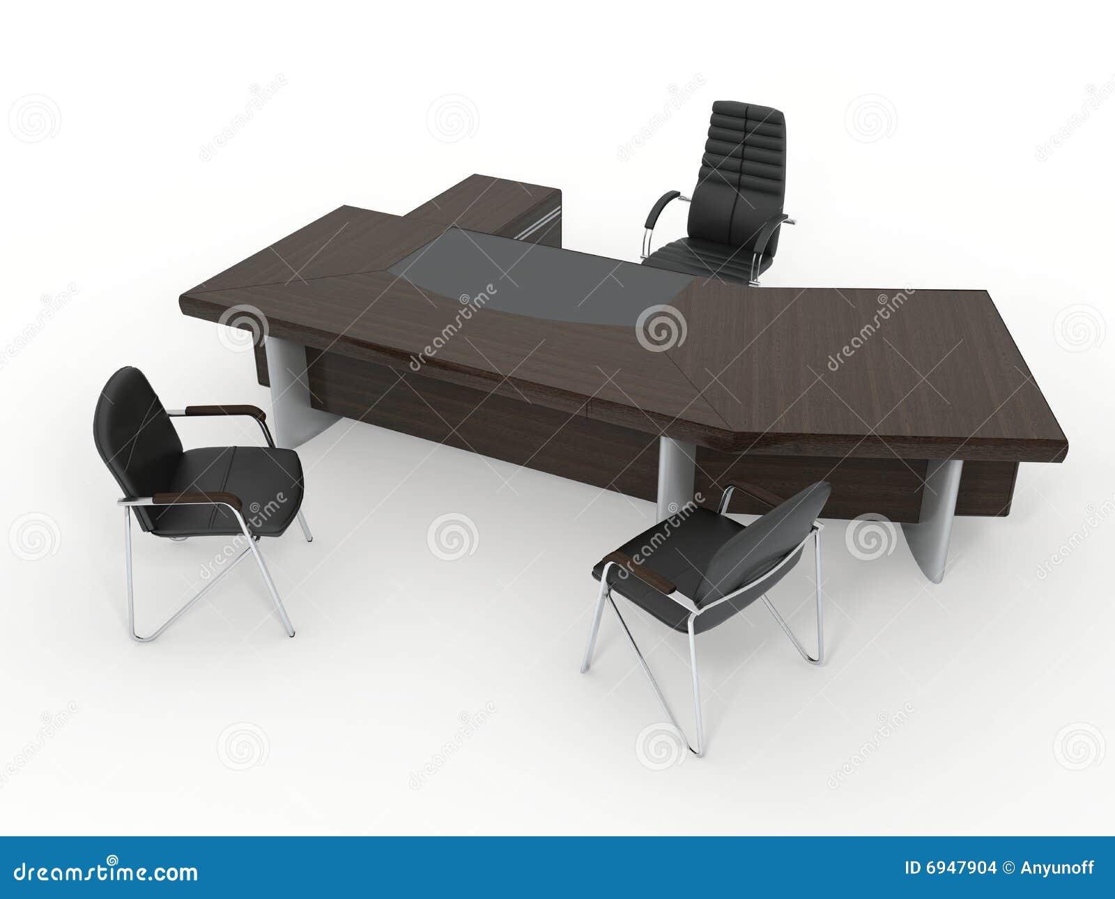 El Conjunto Completo De Los Muebles Del Director De La Oficina  # Muebles Didecor