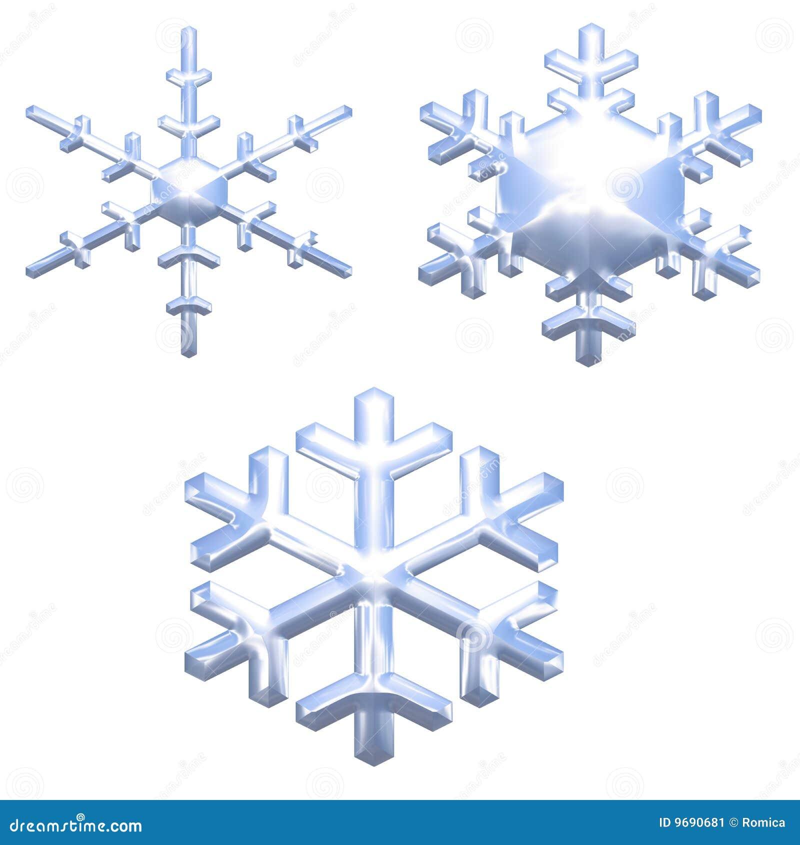 El conjunto de nieve del efecto del metal del cromo forma escamas sobre blanco