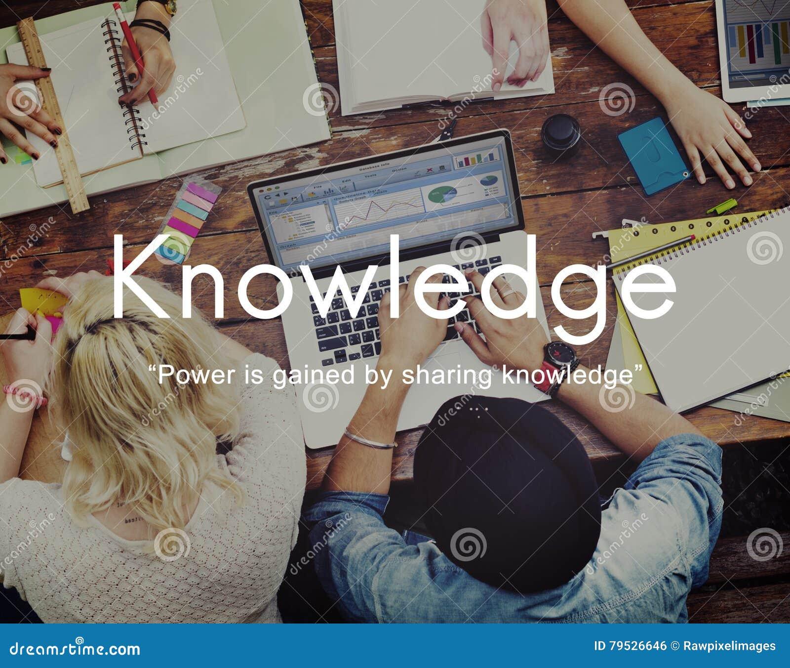 El conocimiento aprende concepto del gráfico de la gente de la educación