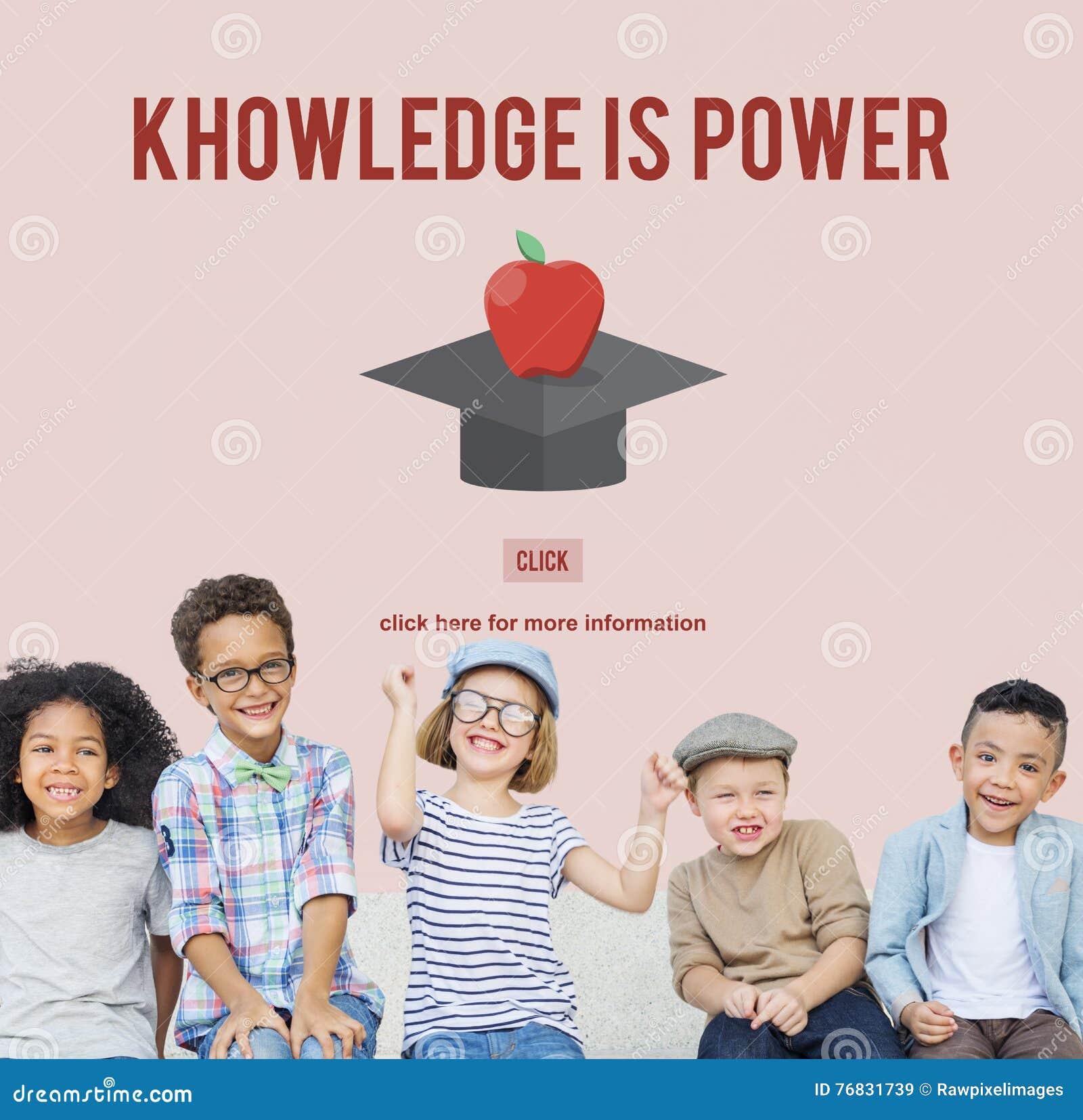 El conocimiento es concepto acertado de la graduación de la educación del poder